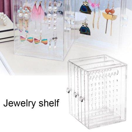 OCDAY Transparent Women Jewelry Display Shelf Practical Desktop Earrings Holder Rack - image 5 of 10