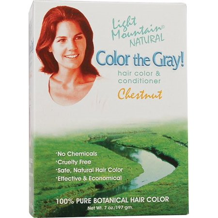 Light Mountain Hair Color, Color the Grey Chestnut, 7