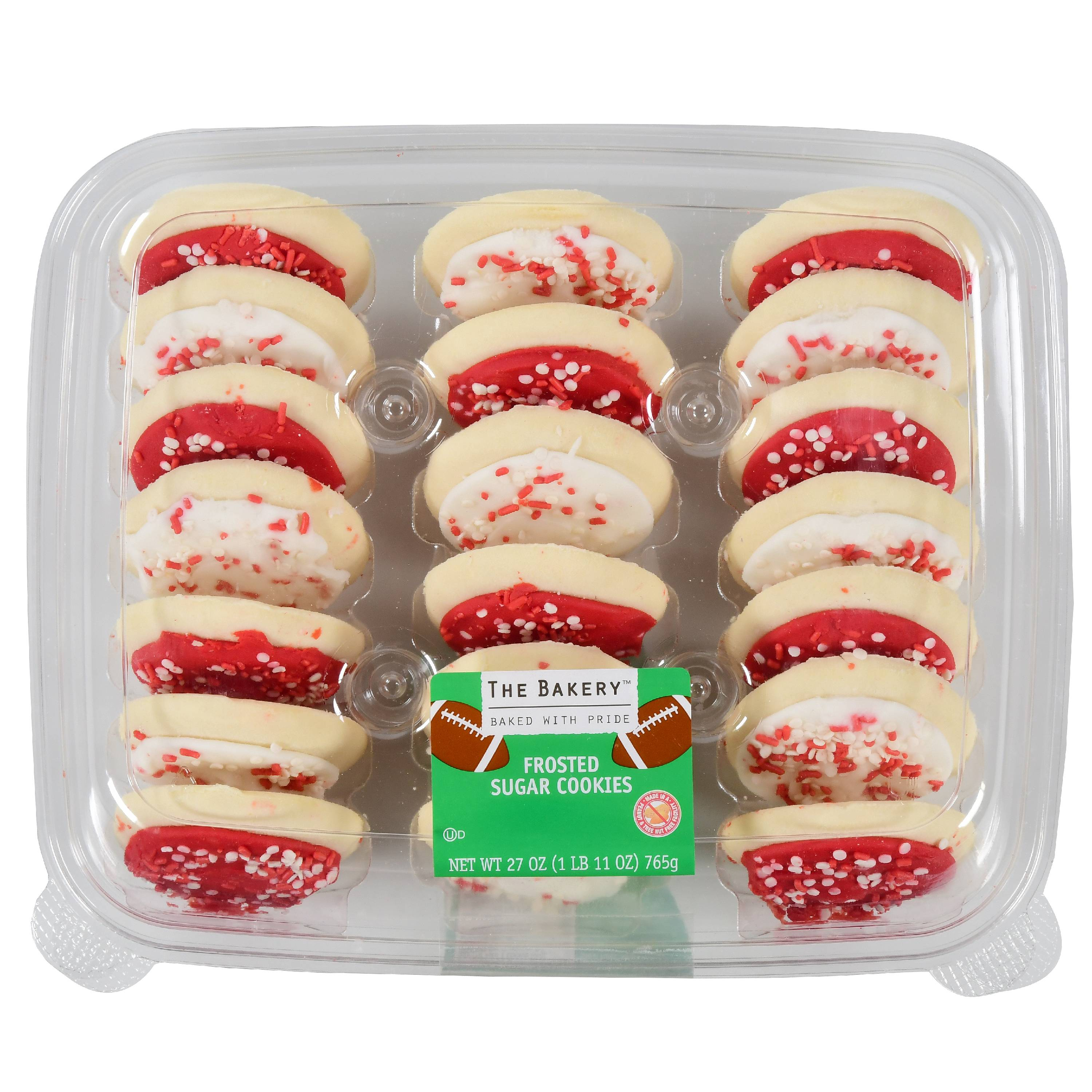 The Bakery Red & White Game Time Frosted Sugar Cookies, 20 Count