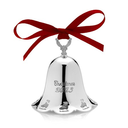 2013 34th Edition Silver-Plated Pierced Bell Ornament, One Towle 2013 Silver-Plated Pierced Bell Ornament, 34th Edition By Towle