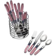 Pfaltzgraff 16-Piece Americana Flatware Set With Wire Caddy