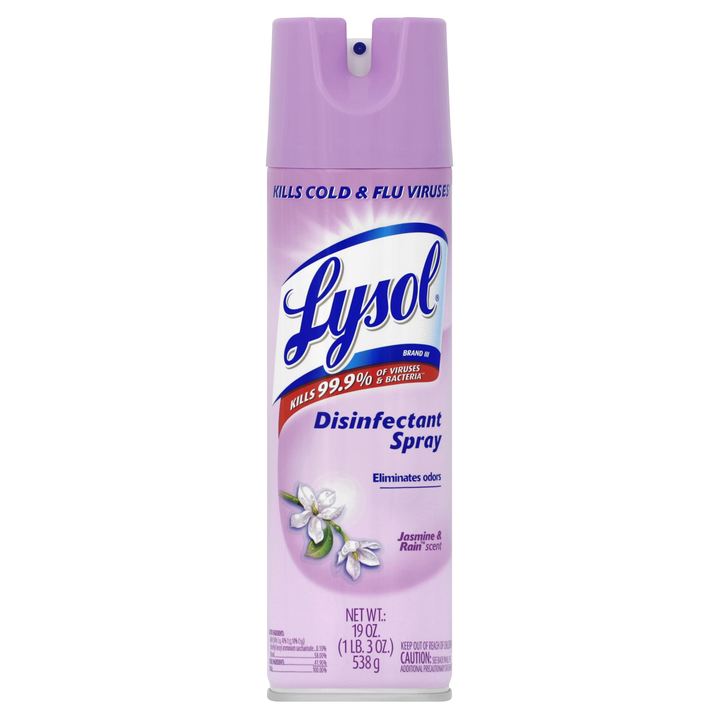 Lysol Disinfectant Spray, Jasmine and Rain, 19 Ounce