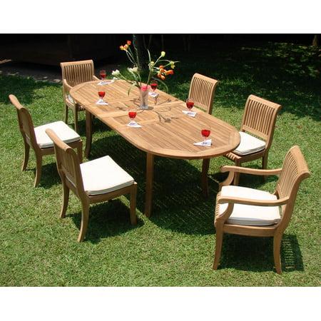 Teak Dining Set:6 Seater 7 Pc - 94