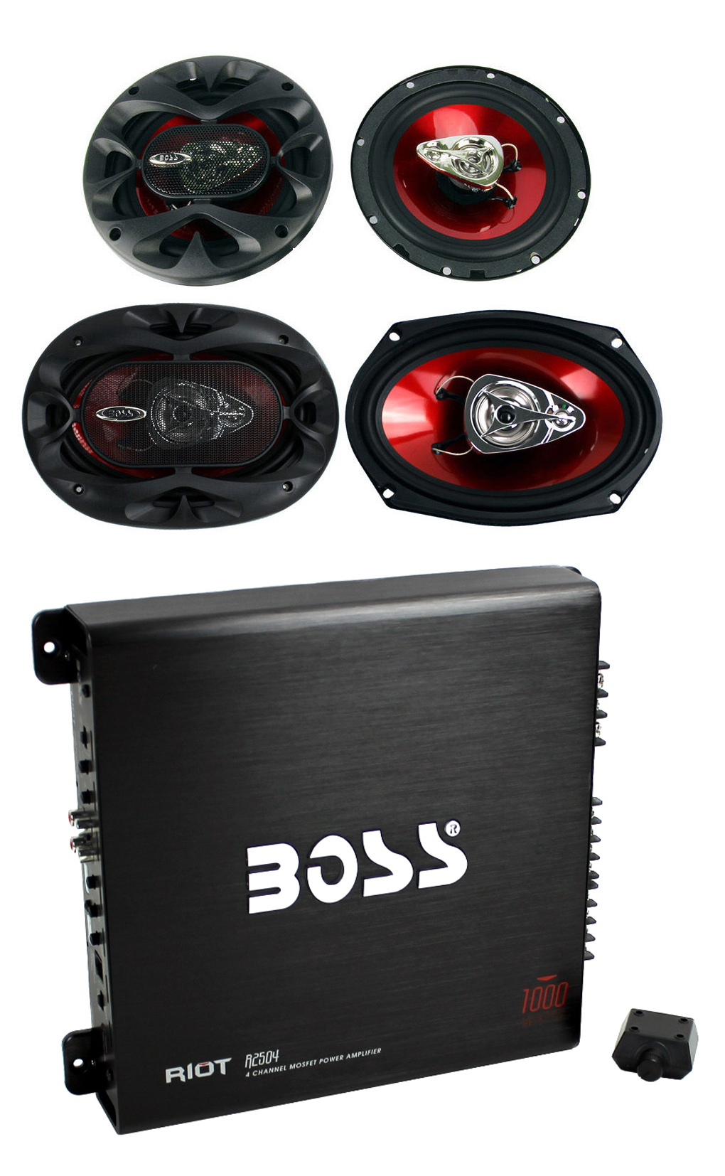 "2) Boss CH6530 6.5"" 250W + 2) 6x9"" 350W 3-Way Car Speakers"