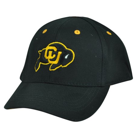 NCAA Colorado Buffaloes Top of the World Infant Fit Stretch Black Hat Cap - Top Of The World Caps