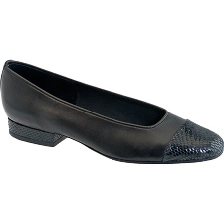vaneli women's fc-313 flat, black nappa/black squama print tip, 6.5 m (Black Nappa Leather Footwear)