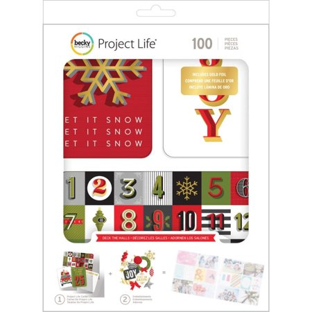 American Crafts Becky Higgins Project Life Christmas Deck the Halls Edition Collection Value Kit (Project Life Recipe Kit)