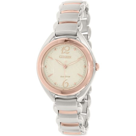 - Women's Eco-Drive FE2074-59A Rose Gold Stainless-Steel Eco-Drive Watch