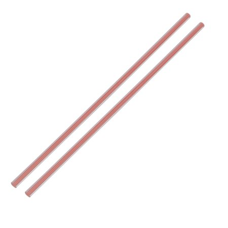 Straight Pink Line Solid Acrylic Round Rod PMMA Bar 250mmx6mm - Solid Round Bar