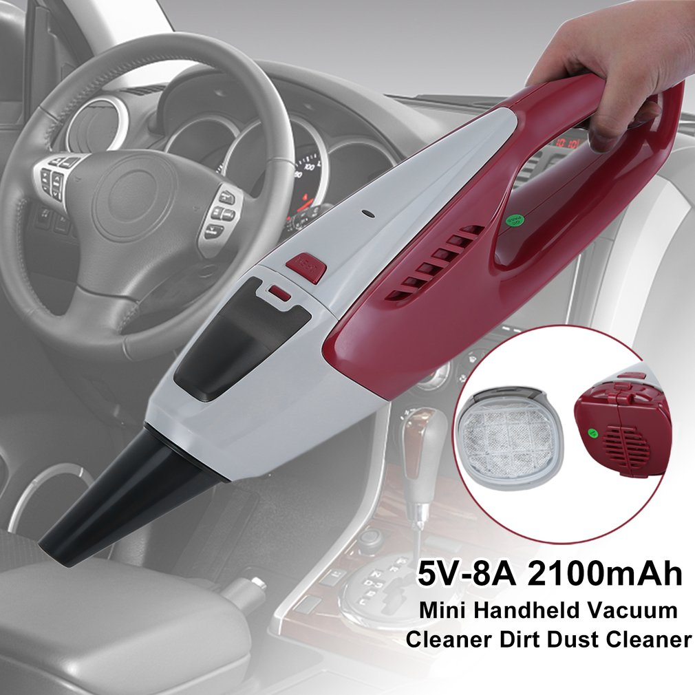 Handheld Vacuum Cordless, Portable Vacuum Cleaner Rechargeable Hand Vac, 3.6V with Built-in Rechargeable Battery Lightweight Wet Dry Vacuum for Home Car Cleaning (Upgraded Version)