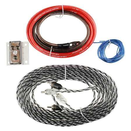 Scosche KDADD - 8-AWG Amp Add-on Wiring Kit - Walmart.com on pt cruiser car kit, amp cable, amp installation kit, car amp kit, amp connectors, amp wire kit, amp install kit,