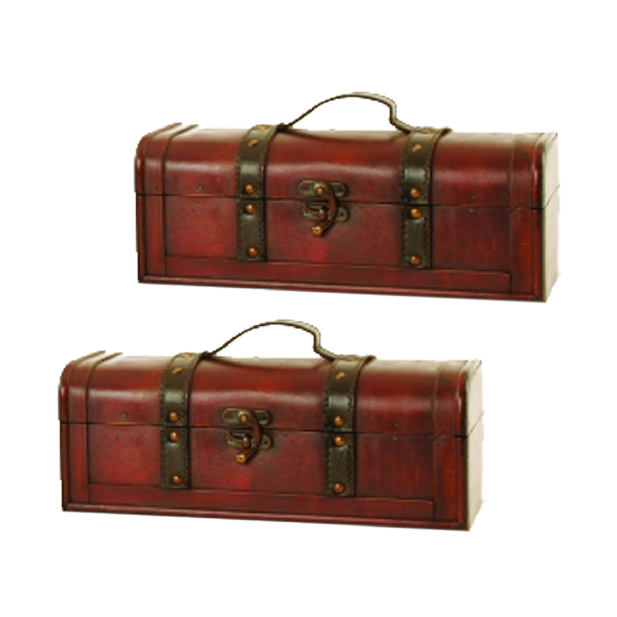 Wald Imports  Dark Wood Trunk (Set of 2)