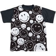 Smiley Men's  Smiles All Around Sublimation T-shirt White