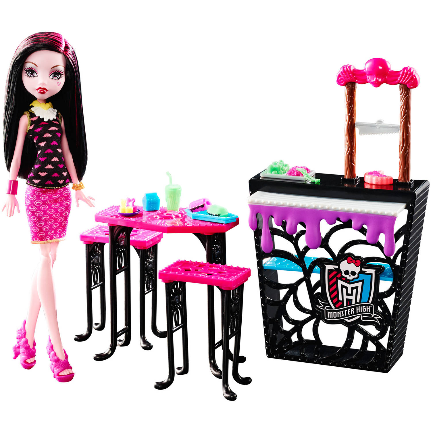 Monster High Beast Bites Cafe Draculaura Doll Playset
