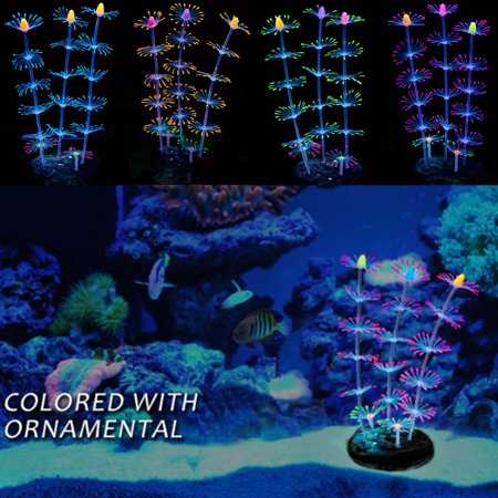 Deal of the Day - Moaere Fluorescent Artificial Coral Plant Glow In The Dark for Fish Tank Decorative Aquarium Reef Ornament Deal of the day