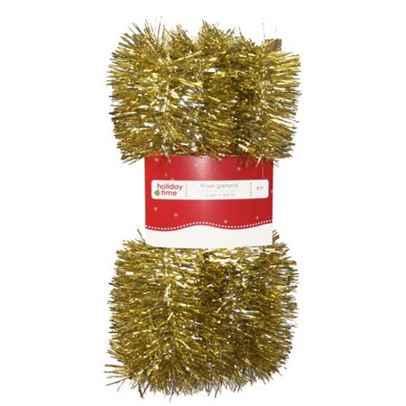 Young Craft 15' Promotional Tinsel Garland, Silver
