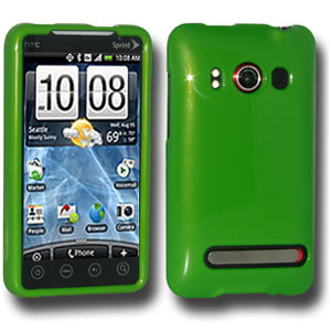 Premium Polished Green Snap On Hard Shell Case for HTC EVO 4G, Sprint HTC EVO 4G