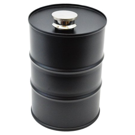 Novelty Oil Barrel Flask, 26-ounce](Novelty Flasks)