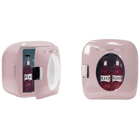 Frigidaire Portable Retro 12-Can Mini Fridge EFMIS462-PINK - Manufacturer Refurbished