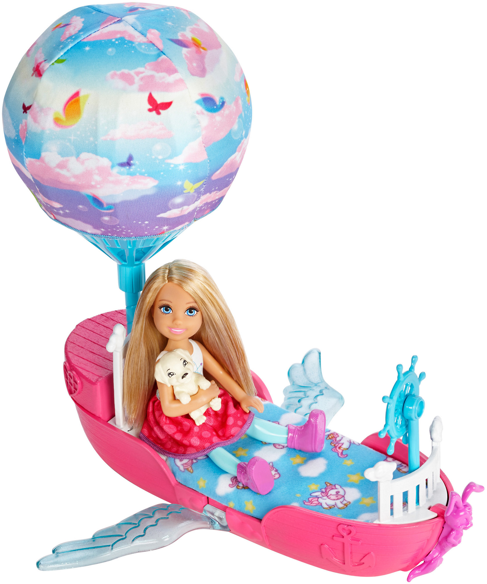 Barbie Dreamtopia Chelsea Doll and Magical Dreamboat by Mattel