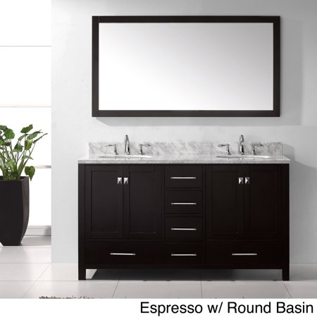 Virtu Caroline Avenue 60 Double Bathroom Vanity Set With Mirror