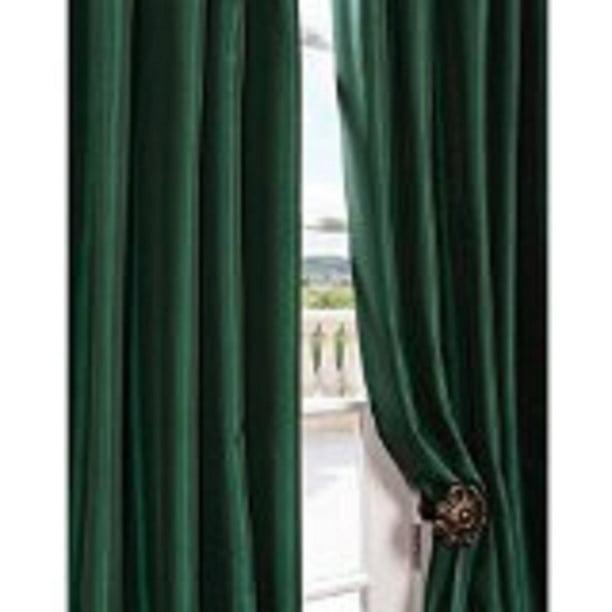 Hunter Green Semi Sheer Window