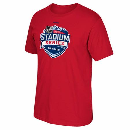 - Stadium Series NHL Reebok Red 2016 Official Stadium Series Logo T-Shirt For Men