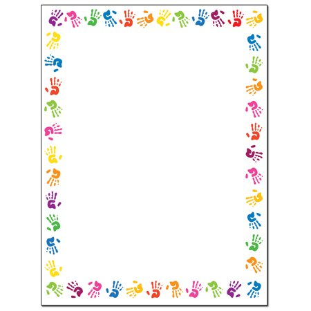 Border of Hands Stationery