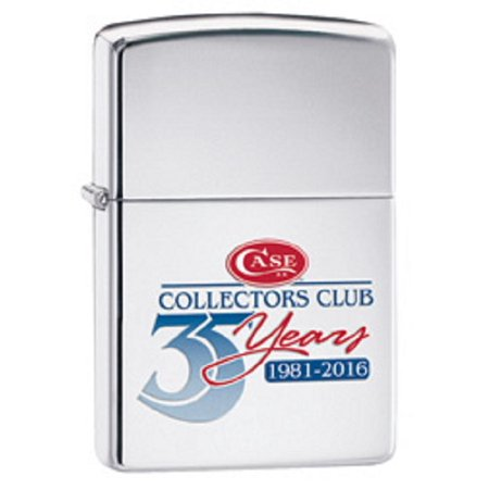 CASE XX Case Collectors Club 35th Anniversary Polished Chrome Zippo Windproof Lighter