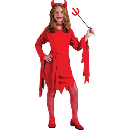 Morris Costumes Childrens Girls Classic Halloween Devils Outfit 12-14, Style (90's Style Halloween Costumes)