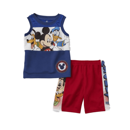 Disney Infant Boys Mickey Mouse Donald Duck & Pluto Baby Outfit Shorts Set](Duck Outfit)