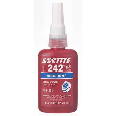 LOCTITE 135355 Loctite® 242® Threadlocker Threadlocker 242, 50mL Bottle, Blue