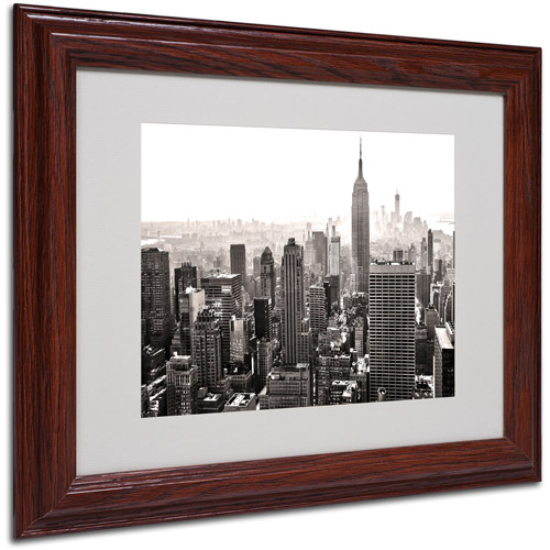 "Trademark Fine Art ""Manhattan"" Matted Framed Art by CATeyes"