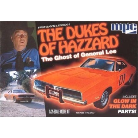 The Dukes of Hazzard The Ghost of General Lee 1/25 Scale Plastic Model Car KitMolded in glow in the dark plastic, plus chrome and clear parts. By MPC