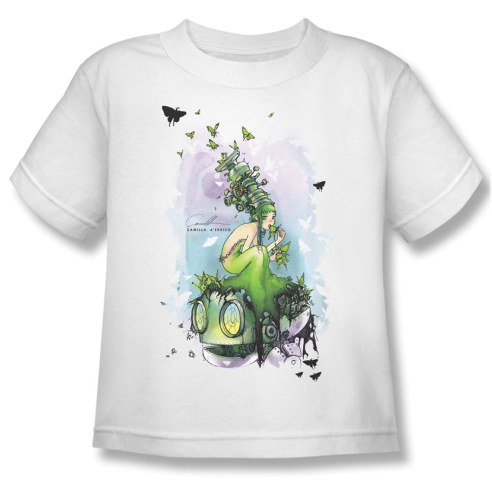 Helmetgirls Boys' Butterflies Childrens T-shirt White
