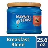 Maxwell House Light Roast Breakfast Blend Ground Coffee, 25.6 oz Canister