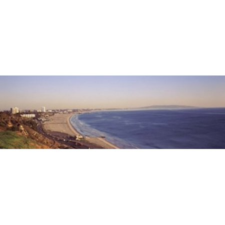 City at the waterfront Santa Monica Los Angeles County California USA Canvas Art - Panoramic Images (18 x 6) (Party City Santa Monica)