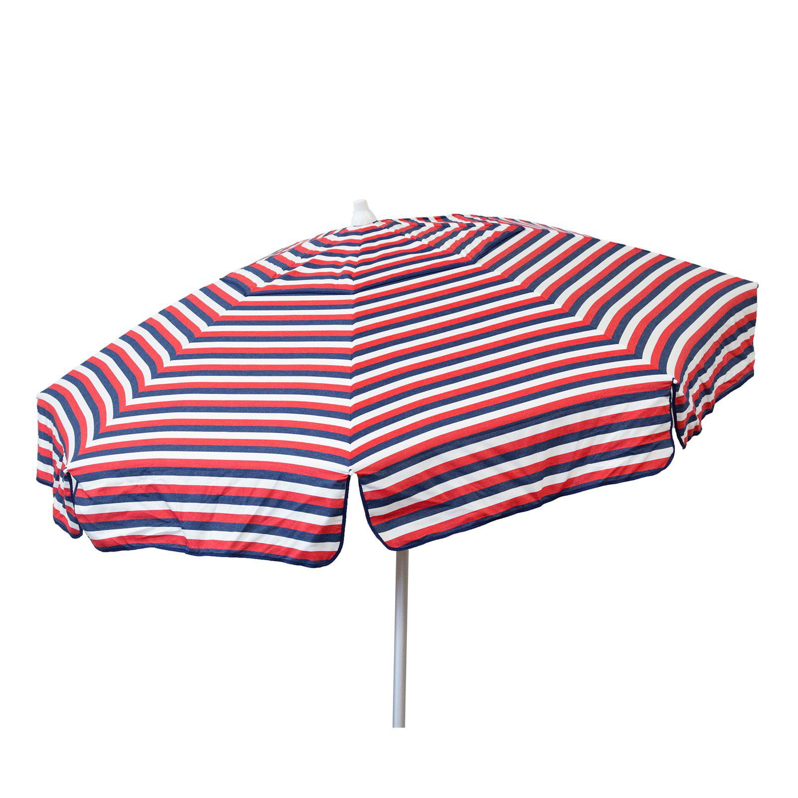 DestinationGear Euro 6 Umbrella Tri Color Stripe Red White Blue