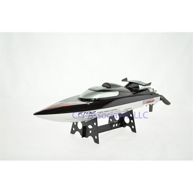 CIS FT012 18 in. 30MPH Remote Control High Speed Brushless Motor Racing Boat with Lipo & Self Righting by CIS