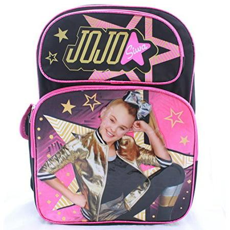 e9226ea2ee Jojo Siwa - Girls School Backpack Book Bag Deluxe Large 16 - Walmart.com