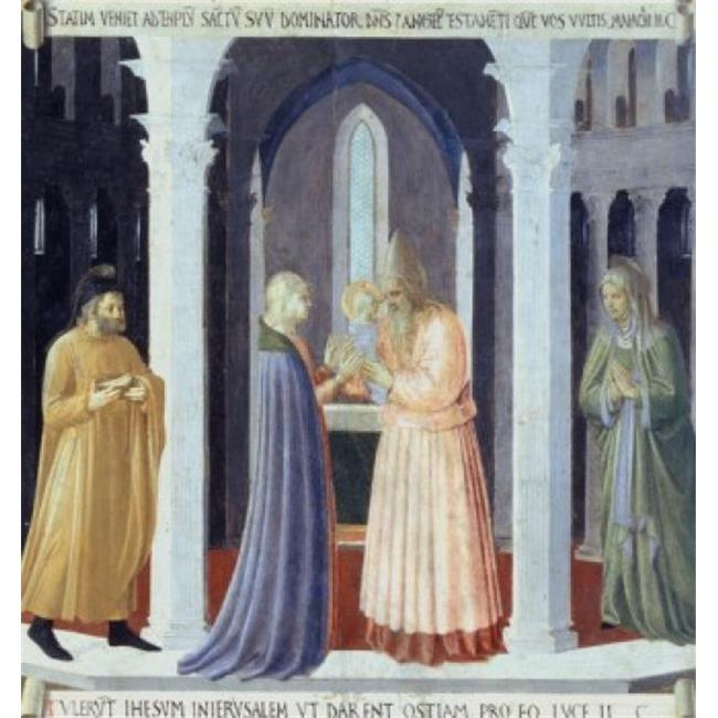 Posterazzi SAL263705 The Story of the Life of Christ Presentation in the Temple Fra Giovanni da F Angelico 1387-1455 Italian Museo di Poster Print - 18 x 24 in. - image 1 de 1
