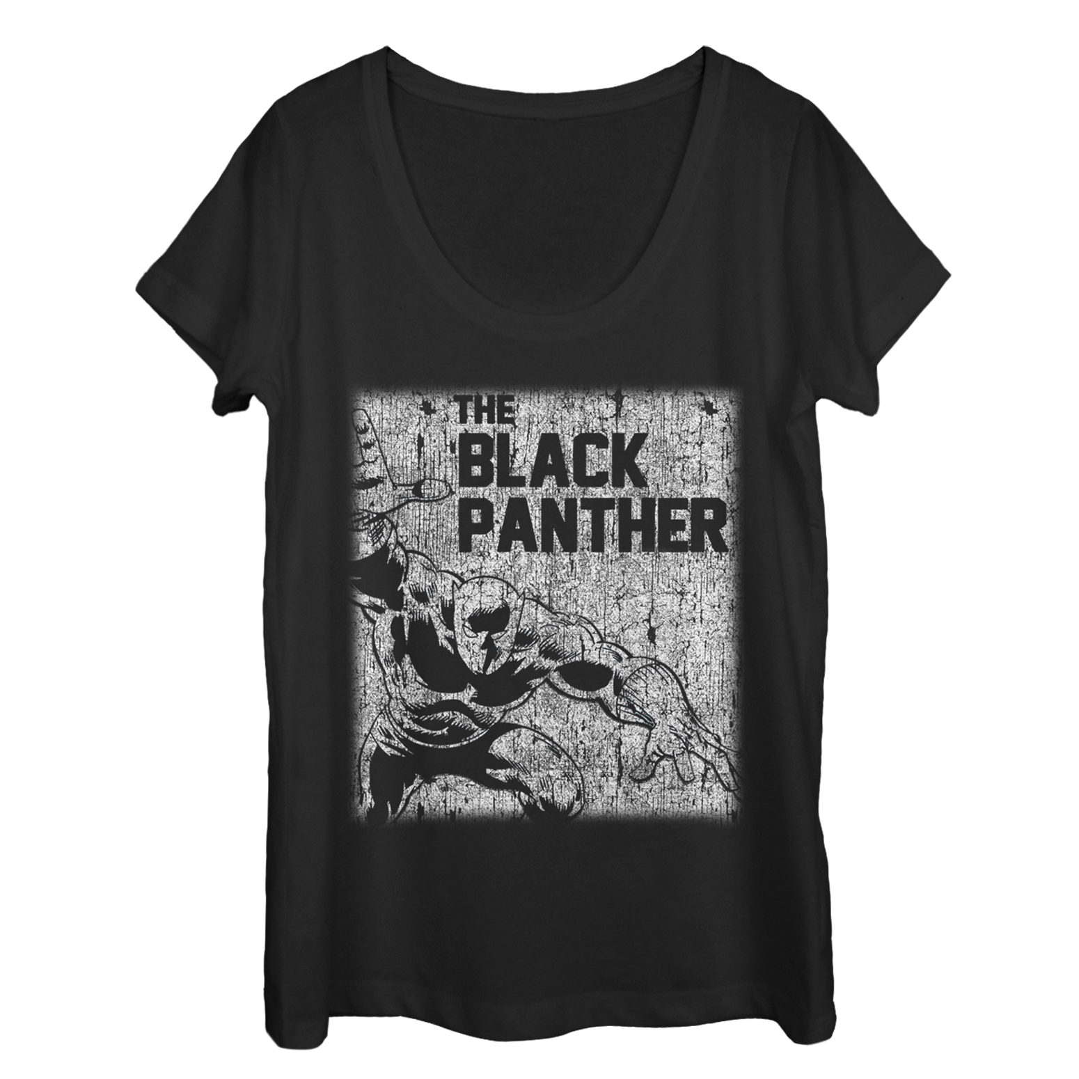 Marvel Marvel Women S Black Panther Chalk Print Scoop Neck T Shirt