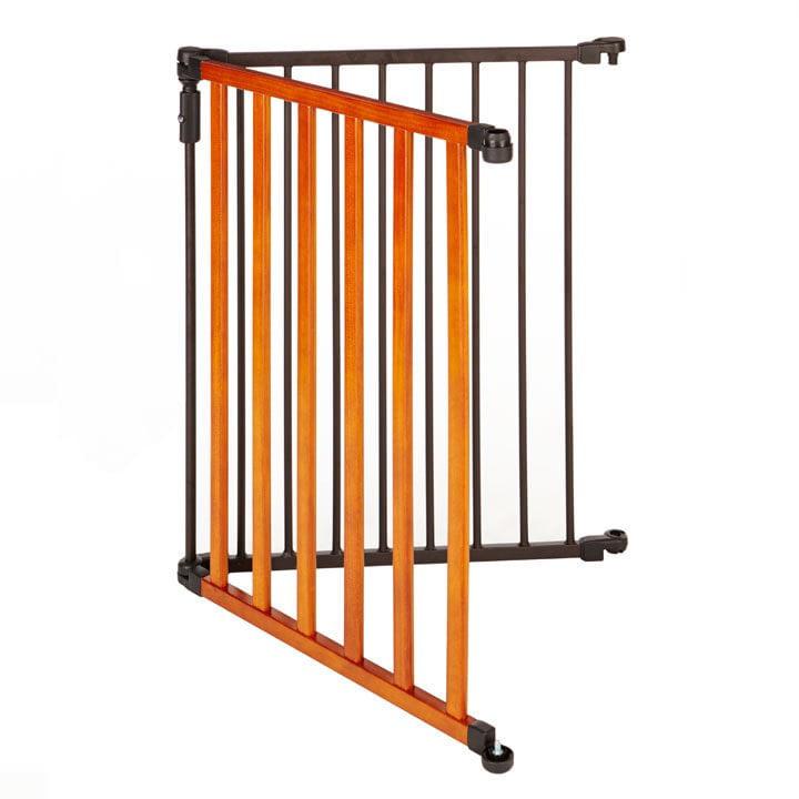 North States 2-Panel Metal & Wood Pet Gate Extension