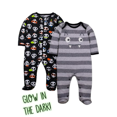 Old Lady Halloween Baby (Halloween Sleep 'N Play Pajamas, 2pk (Baby)