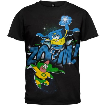 Spongebob Squarepants - Zoom Super Heroes Youth T-Shirt - Old Spongebob