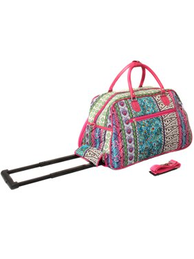 Artisan Prints 21-inch Carry-On Rolling Duffel Bag - Multicolor