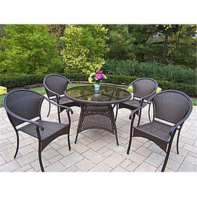 Oakland Living 90045T-90079LC4-5-CF Tuscany 5 Piece Dining Room Set Coffee by Oakland Living Corporation