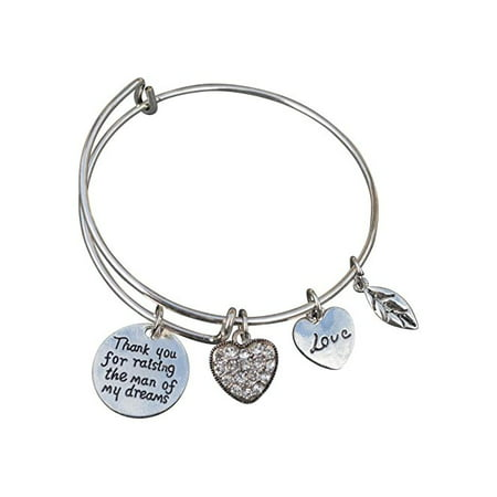 Mother in Law Gift, Mom Bangle Bracelet- Mom Jewelry, Perfect Gift for Mother of the Groom (Contemporary Bangle Collection)