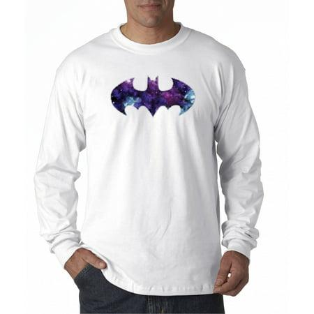 Blue And Grey Batman (631 - Unisex Long-Sleeve T-Shirt Batman Dark Knight Galaxy Logo)