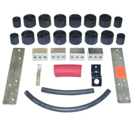 - Daystar PA102 Body Lift Kit; 2 in. Lift; Incl. Front/Rear Bumper Brackets;